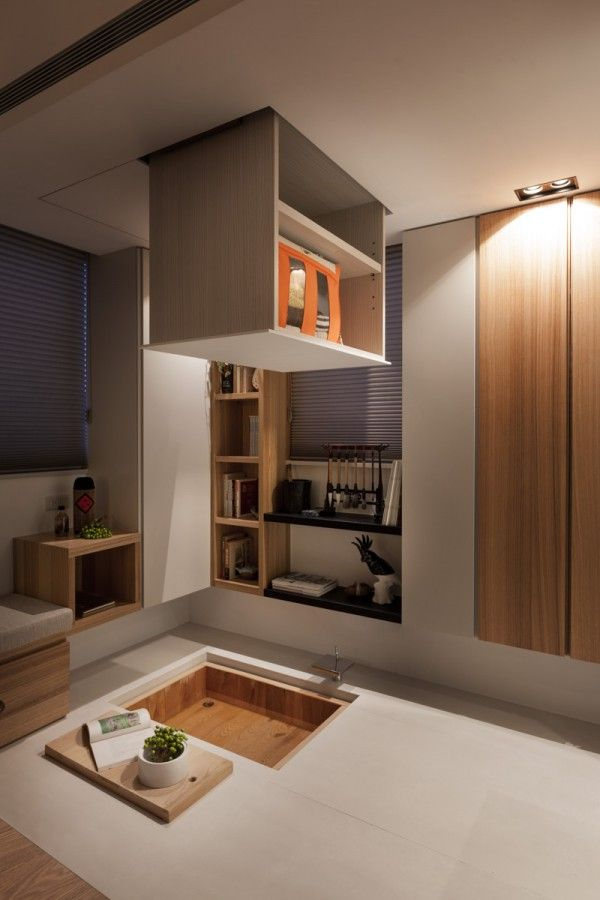 Taipei home showcases asian minimalist influences wood planks plank and ceilings