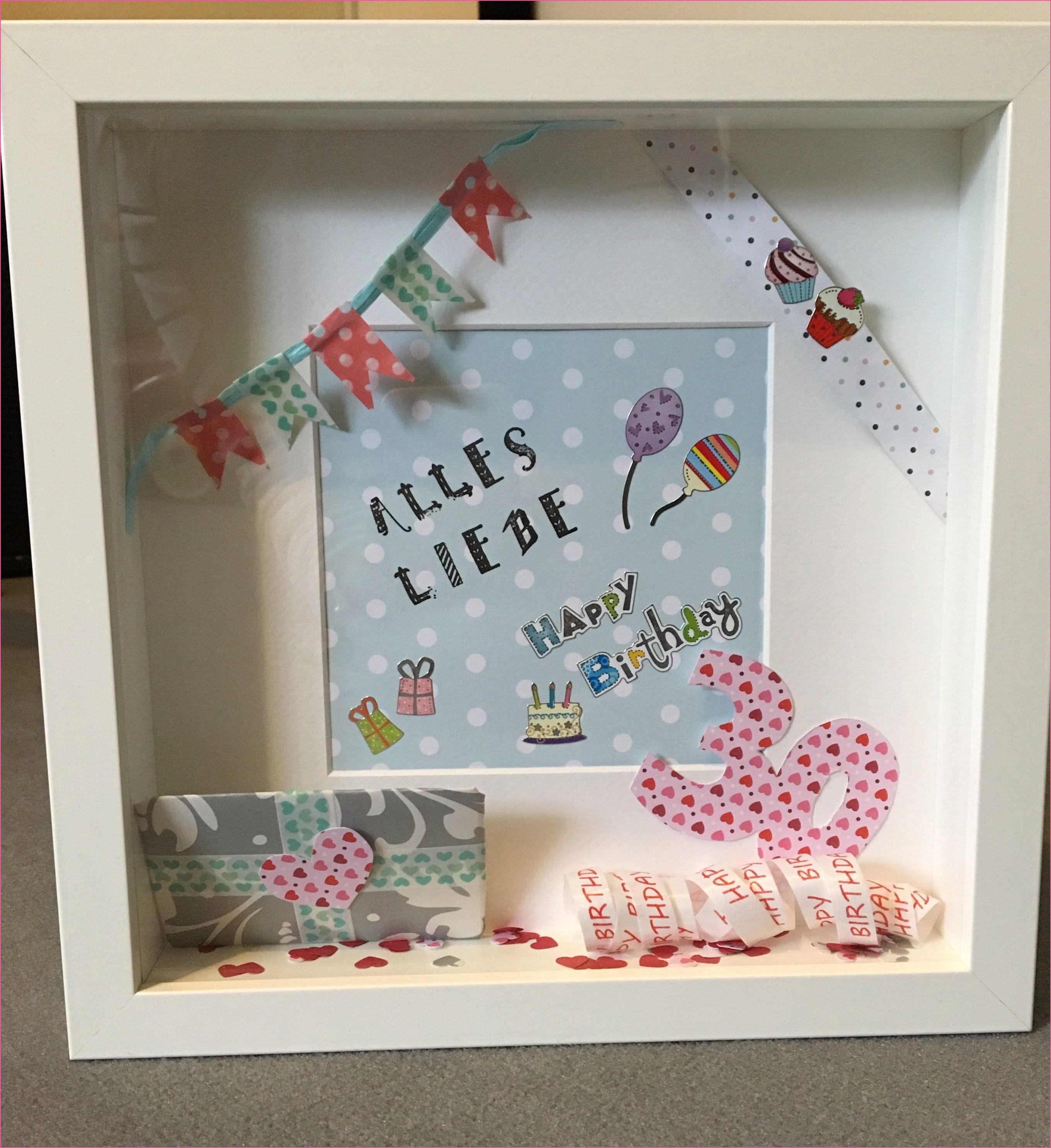 Geschenkideen 60 Geburtstag Frau Basteln Bildrahmen Baby Handmade