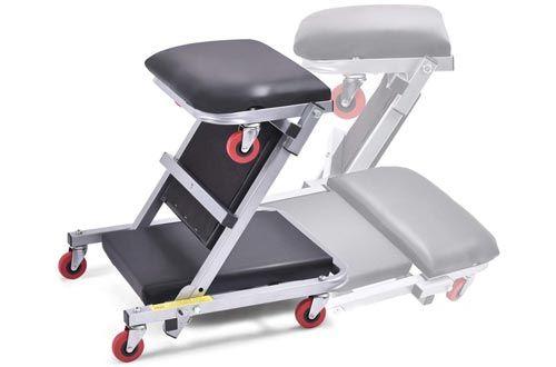 Goplus 40 Quot Foldable Z Creeper Seat Rolling Chair Mechanics