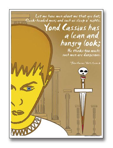 Lean and Hungry, Caesar - Literary Poster