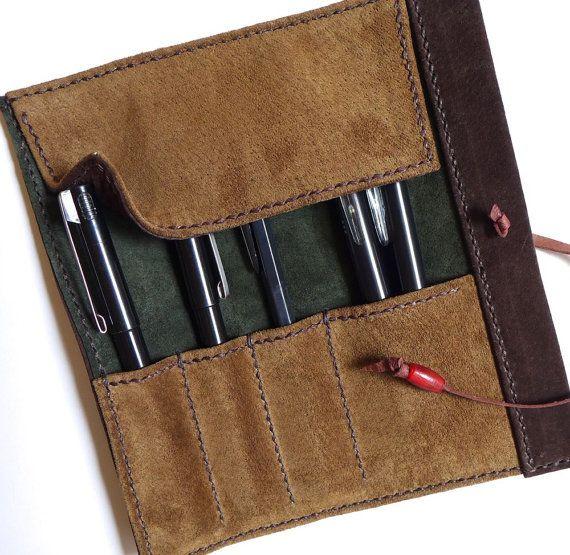 Pencil Holder Bag Fountain Pen Case Roll Up Soft Wrap Bag for Pencil Holder