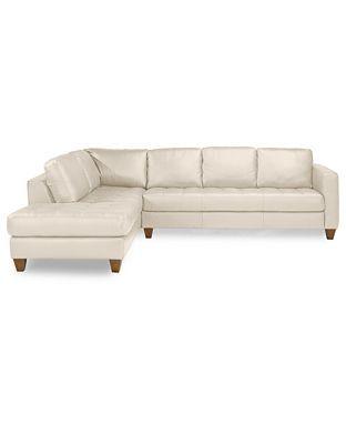 Ivory Cream Leather Sofa Macy S