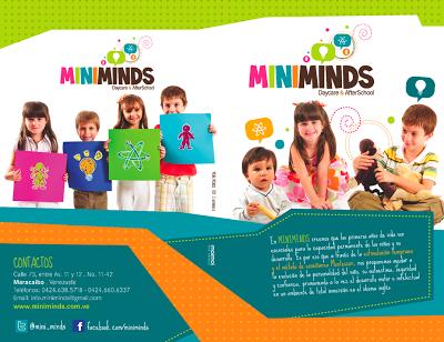 moimoi diseño: Diptico Miniminds