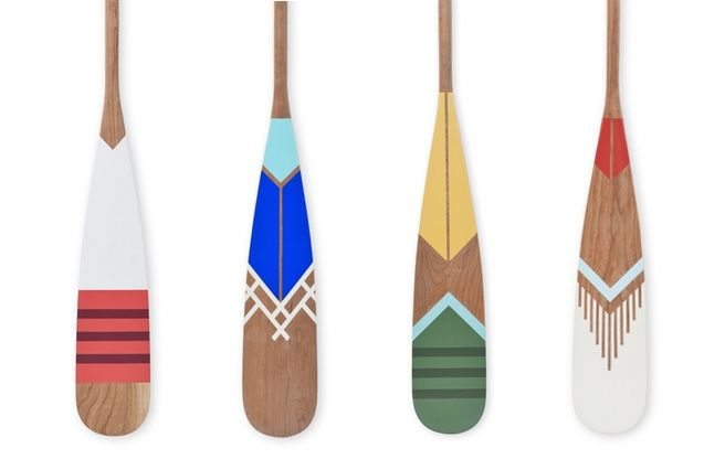 Pretty Hand Painted Paddles From Norquay Company