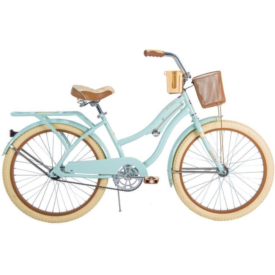 Womens Beach Cruiser Bike 24 Vintage Bicycle Basket Ladies Urban Cruising Mint Beach Cruiser Bike Cruiser Bike Cruiser Bicycle