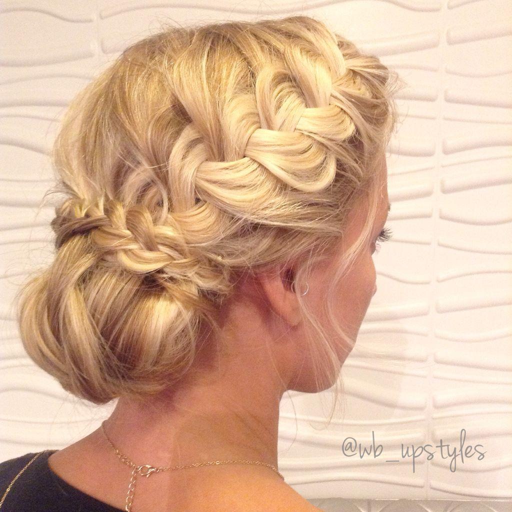 loose braid, updo, upstyle, low bun. wedding hair ideas. cute