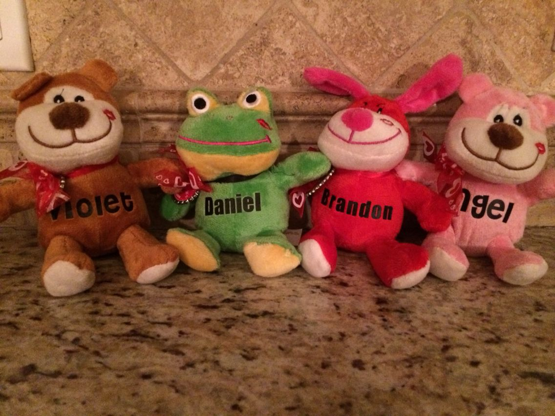 Dollar Tree Stuffed Animals Personalized For A Valentine Heat