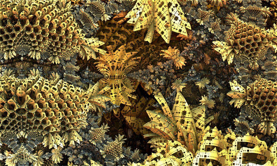 Golden garden by hyperben2 on DeviantArt | Fractal Art | Pinterest ...