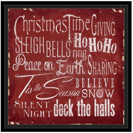 Holiday Type II by Eazl Black Framed Premium Gallery Wrap, Size: 24 x 24