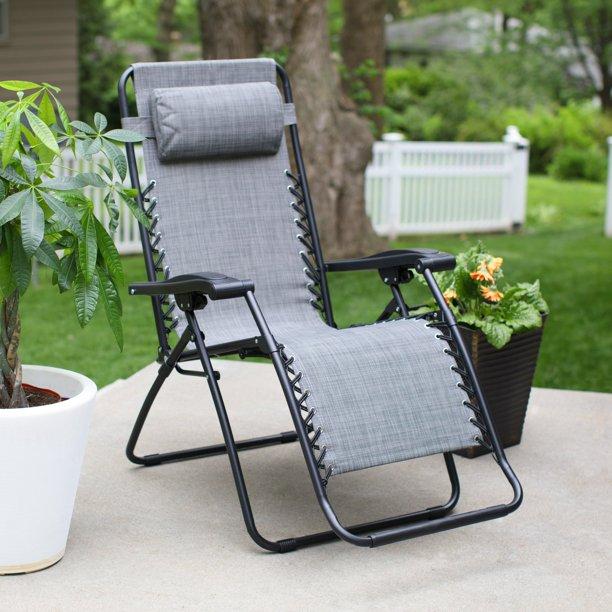 Caravan Sports Zero Gravity Sling Lounge Chair Walmart Com In 2020 Zero Gravity Chair Black Steel Frame Chair