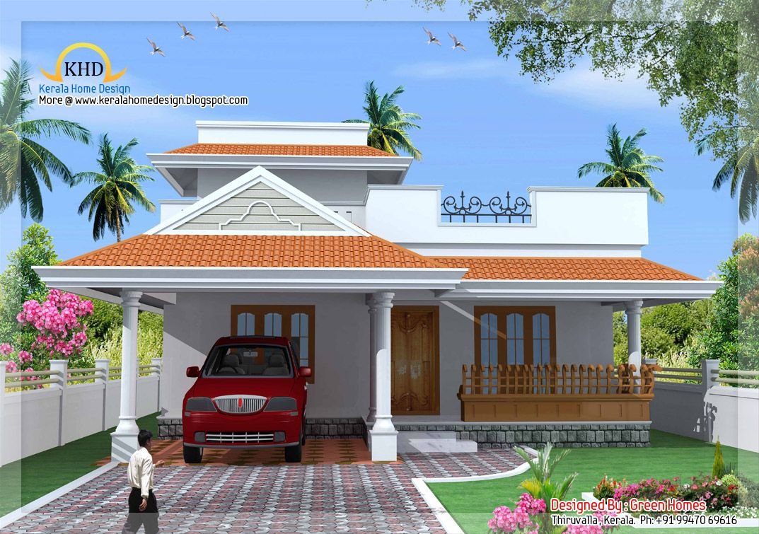 Small-Budget-House.jpg (1073×755) | Kerala house design ...