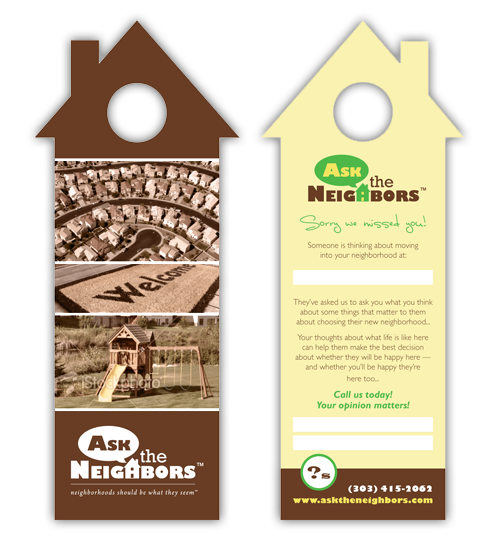 Real Estate Door Hanger Template real estate door hanger marketing: door hanger ideas | uprinting
