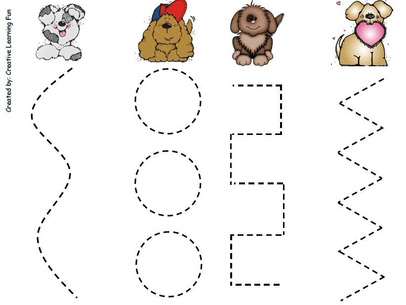 Prewriting Skills Puppy Activities For 2 Year Olds