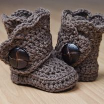 Super cute crocheted boots!
