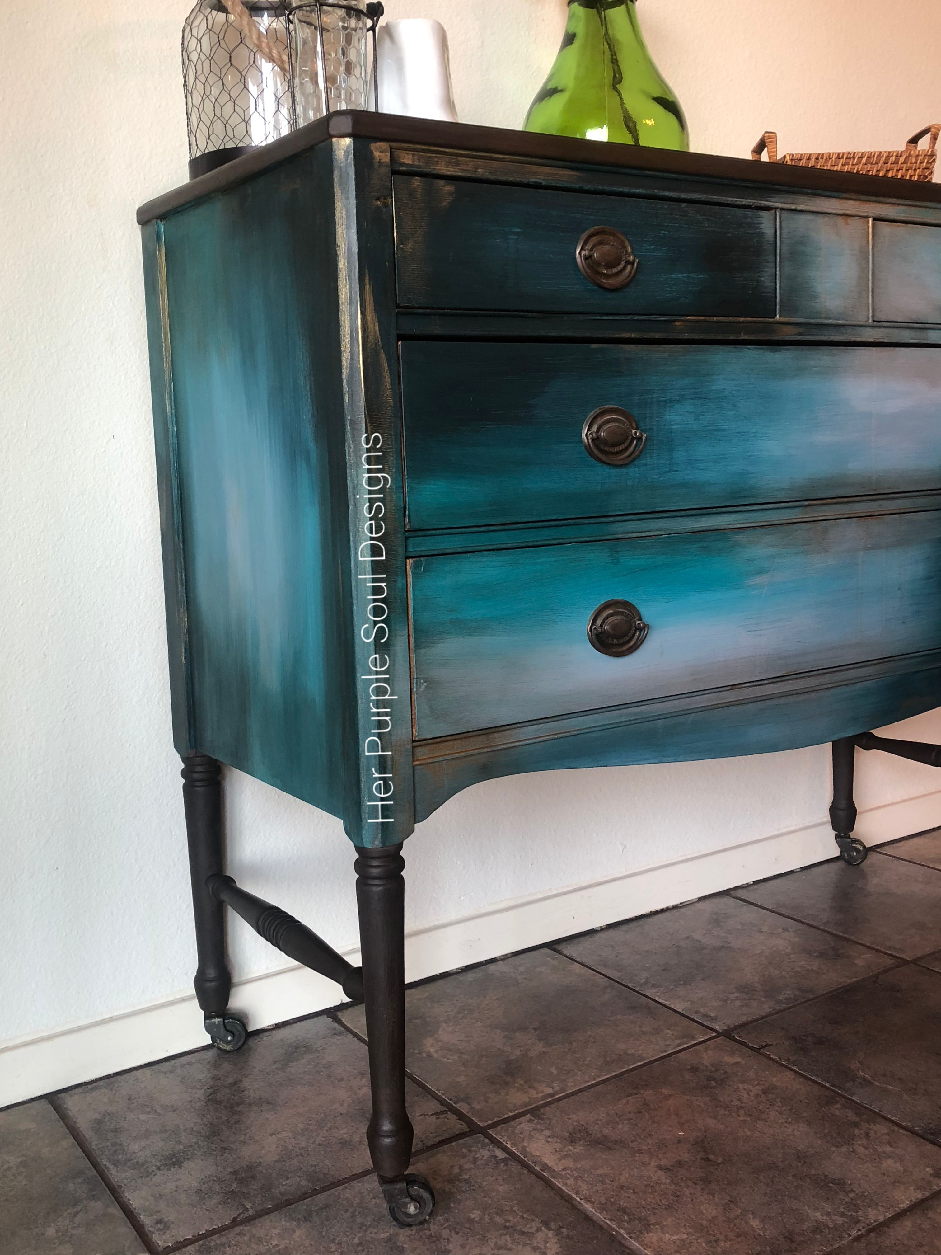 Accent Entry Table Painted With Annie Sloan Olive Chalk Paint And Glazed With General Finis Annie Sloan Painted Furniture Painted End Tables Western Furniture