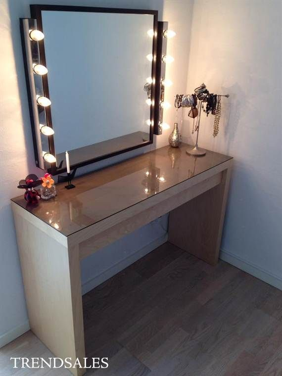 sminkebord Ikea   Sminkebord, would choose white, but loove | Home sweet home  sminkebord