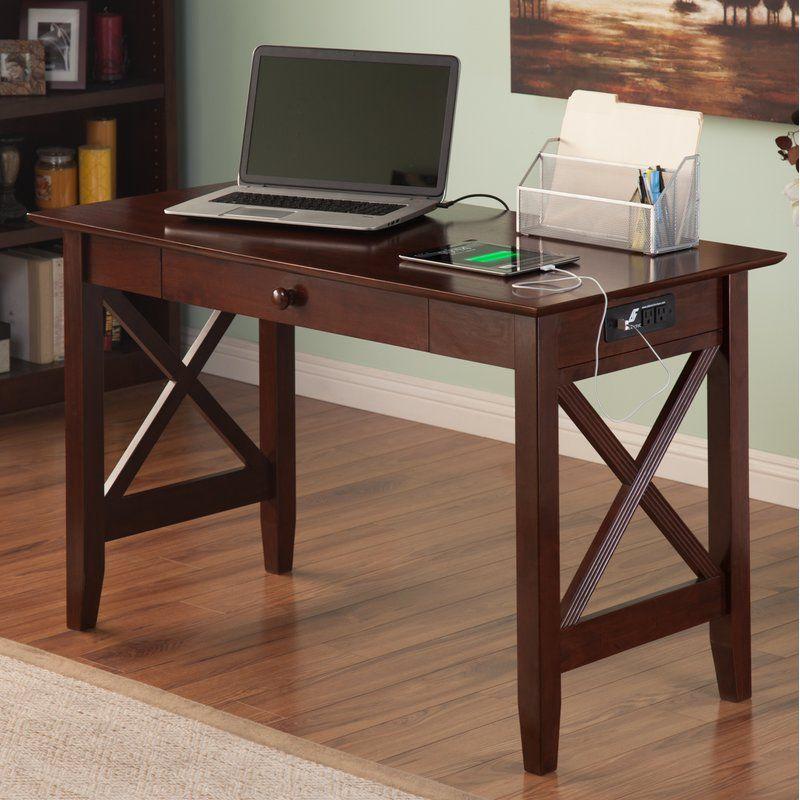 Dowdle Solid Wood Desk Solid Wood Writing Desk Solid Wood Desk