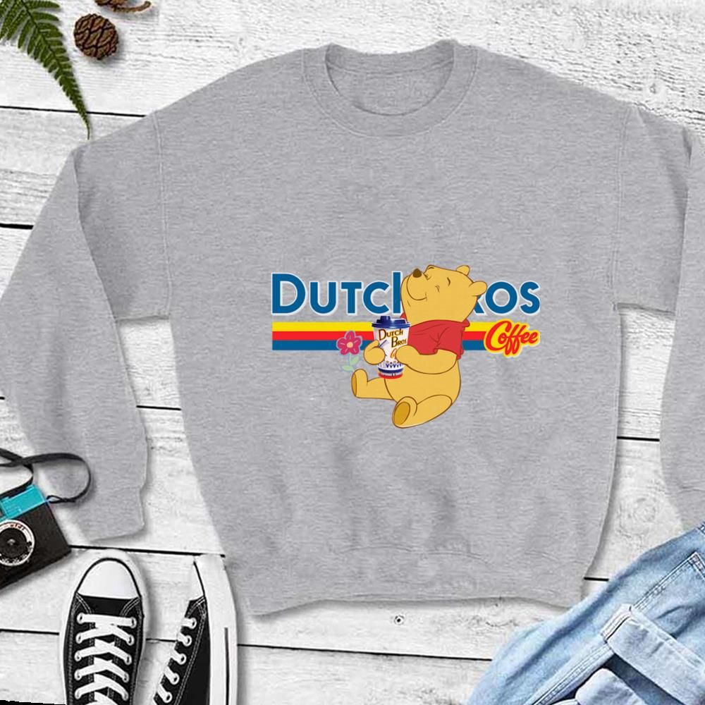 Nice Flower Drink Dutch Bros coffee Pooh shirt #dutchbros