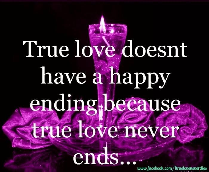 So that's why there is no such thing as a happy ending... Until you die, of course