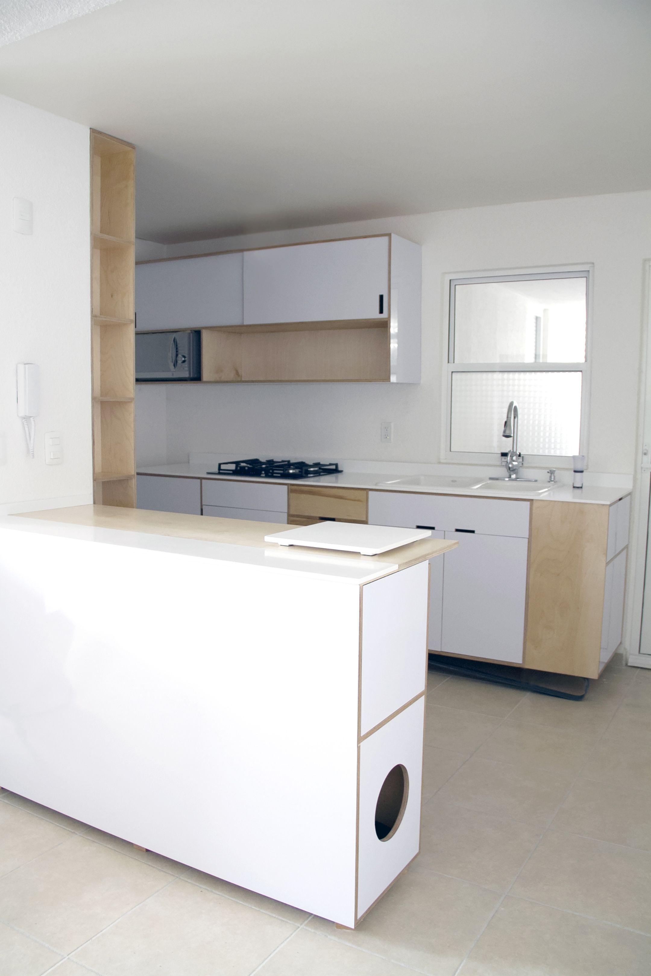 Urban Kitchen / Cocinas Urbanas Krion Snow White Porcelanosa Birch ...