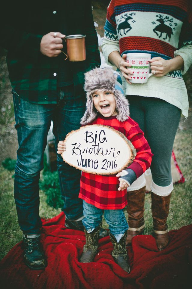 The Rice S Christmas Baby Announcement Second Baby