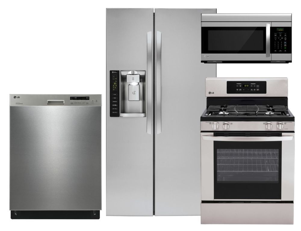 New Lg Stainless Steel Appliance Package W Side By Side Fridge Gas Range 12 Lg Stainless Steel Appliances Stainless Steel Appliance Package Appliance Packages