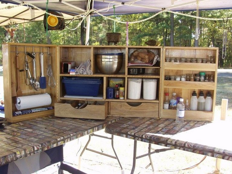 50 Cozy Outdoor Camping Kitchen Ideas For Comfortable Camping Outdoor Camping Kitchen Camp Kitchen Comfortable Camping
