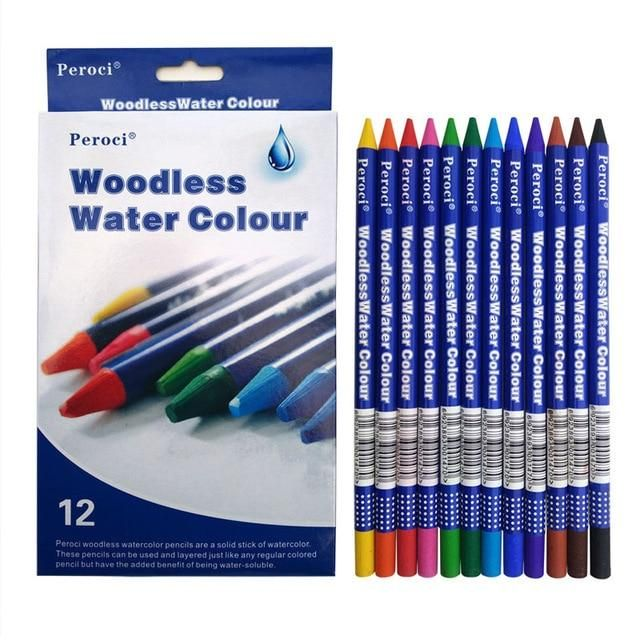 Fine Art 12 Premium Colored Pencils Watercolor Lapis De Cor
