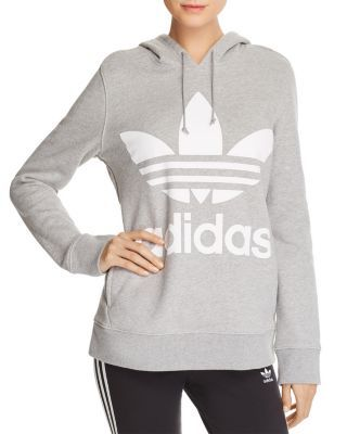 adidas adidas Originals Women's Trefoil Hoodie, Size: XL, Gray from DICKS Sporting Goods | ShapeShop
