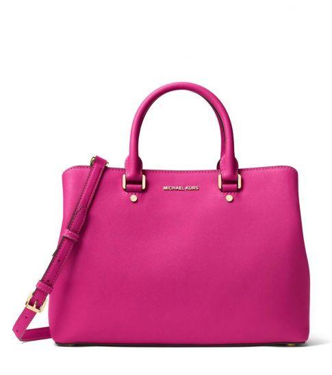 406ae6c4a77c0 Michael Kors Raspberry Savannah Large Satchel | Bags for Women ...