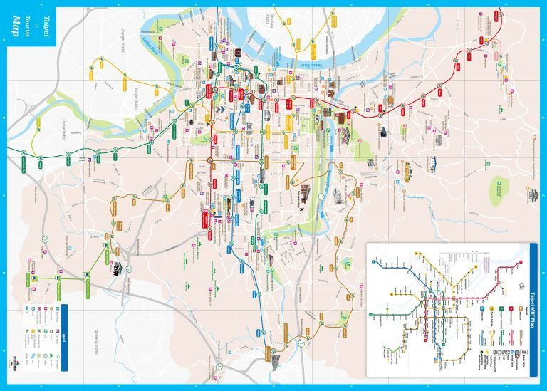 Taipei Map Tourist Attractions 11 City Travel New Arabcooking Me | Tourist. Tourist attraction. Map
