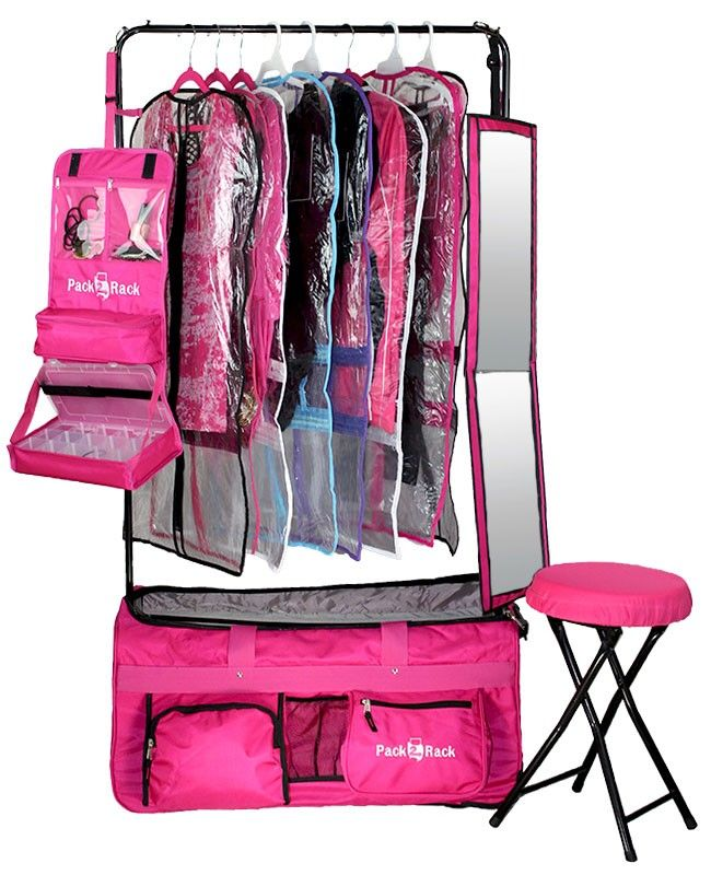 Dance Bag With Garment Rack Endearing Pack 2 Rack Rolling Foldable Dance Bag  Dancing Dance Recital And Design Inspiration