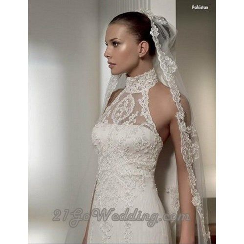 wedding gowns with turtle necks | wedding dress lace collar ...