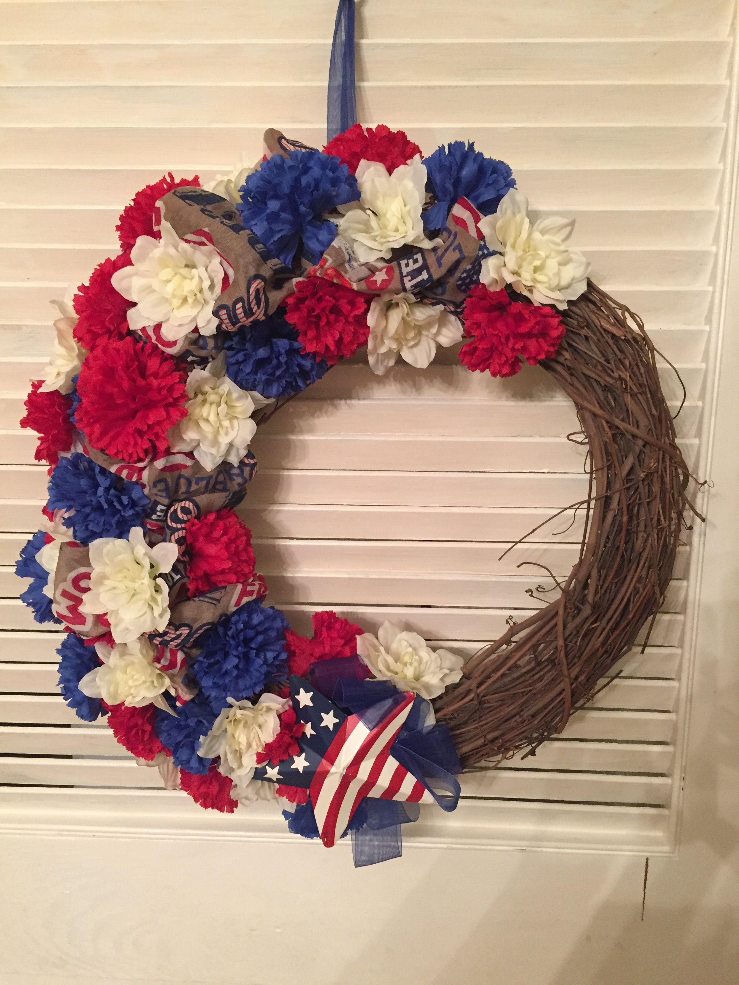 $10 Dollartree Patriotic Wreath Tutorial  Youtube - Dollar Tree