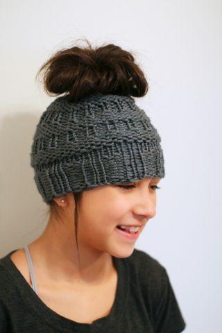 Messy Bun Hat Pinterest Messy Buns Knit Patterns And Yarns