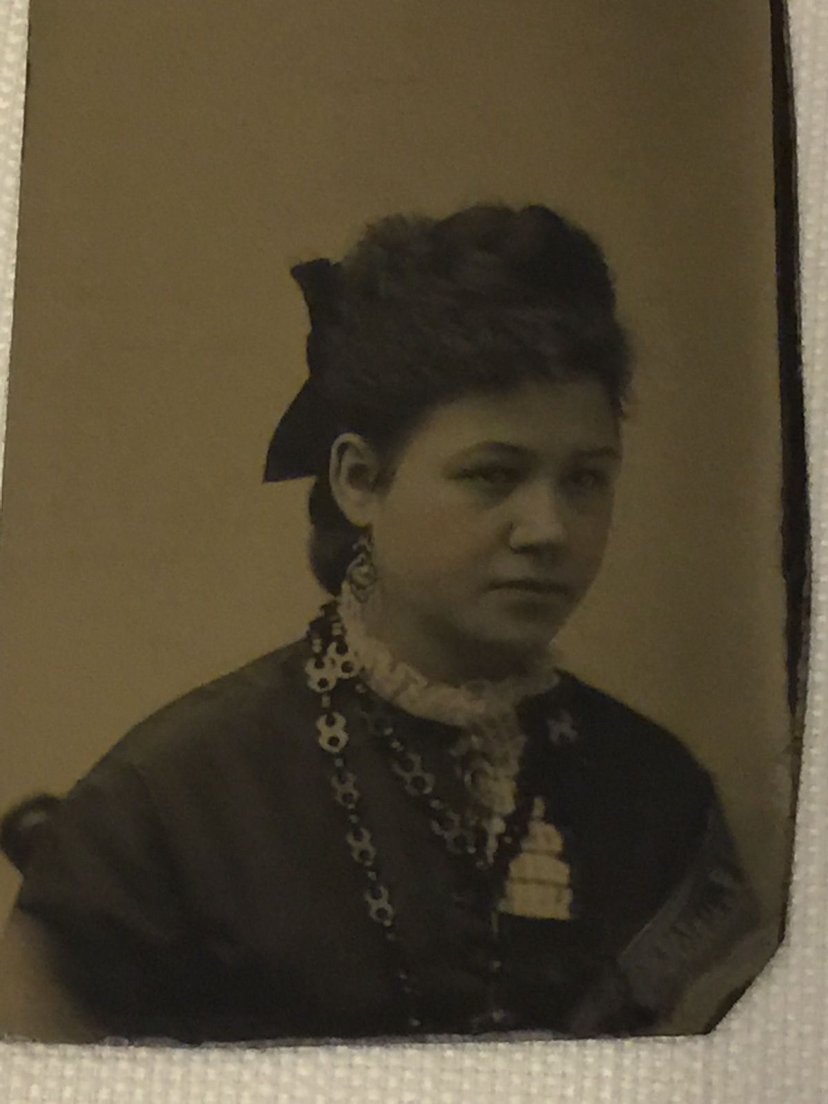 3 Vintage Antique Tintype Photos 3 Women Formal Dress/Jewelry Hand Painted | eBay