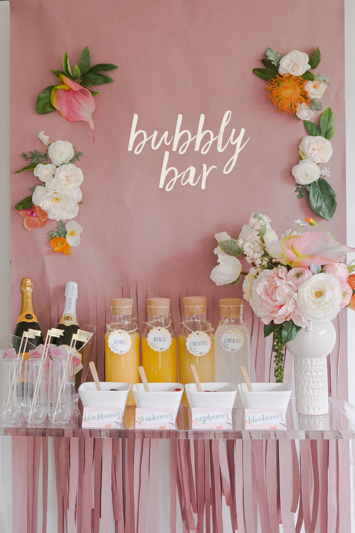 Mimosa Bar Banner 16inch Bachelorette Party Rose Gold Decorations for Bridal Shower Mimosa Bar Balloons Rose Gold Graduation Champagne Brunch Decorations Engagement Party Birthday Party