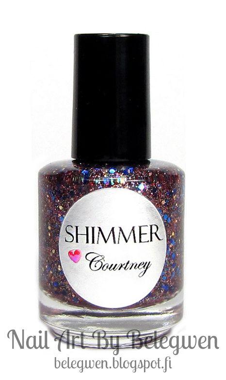 Nail Art by Belegwen: Shimmer Polish: Courtney & Tiffany