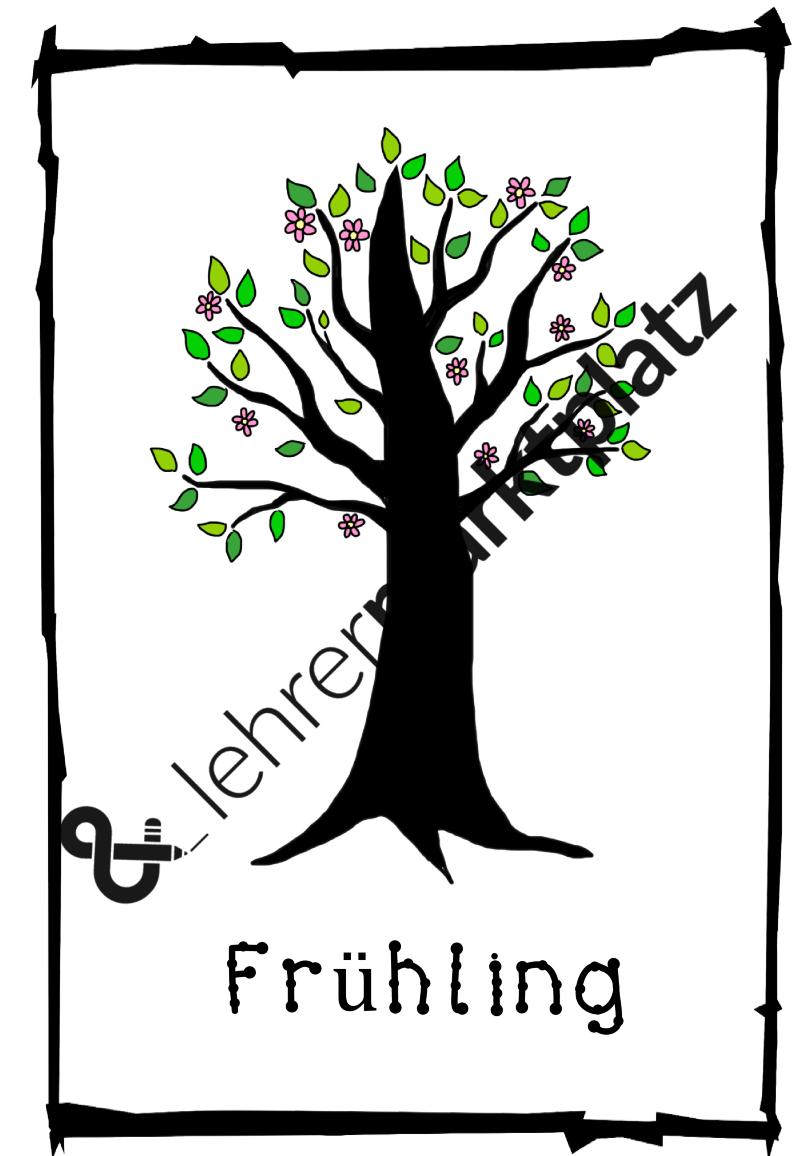 Laubbäume kennenlernen (Arbeitsblätter, Flashcards, Infotexte ...
