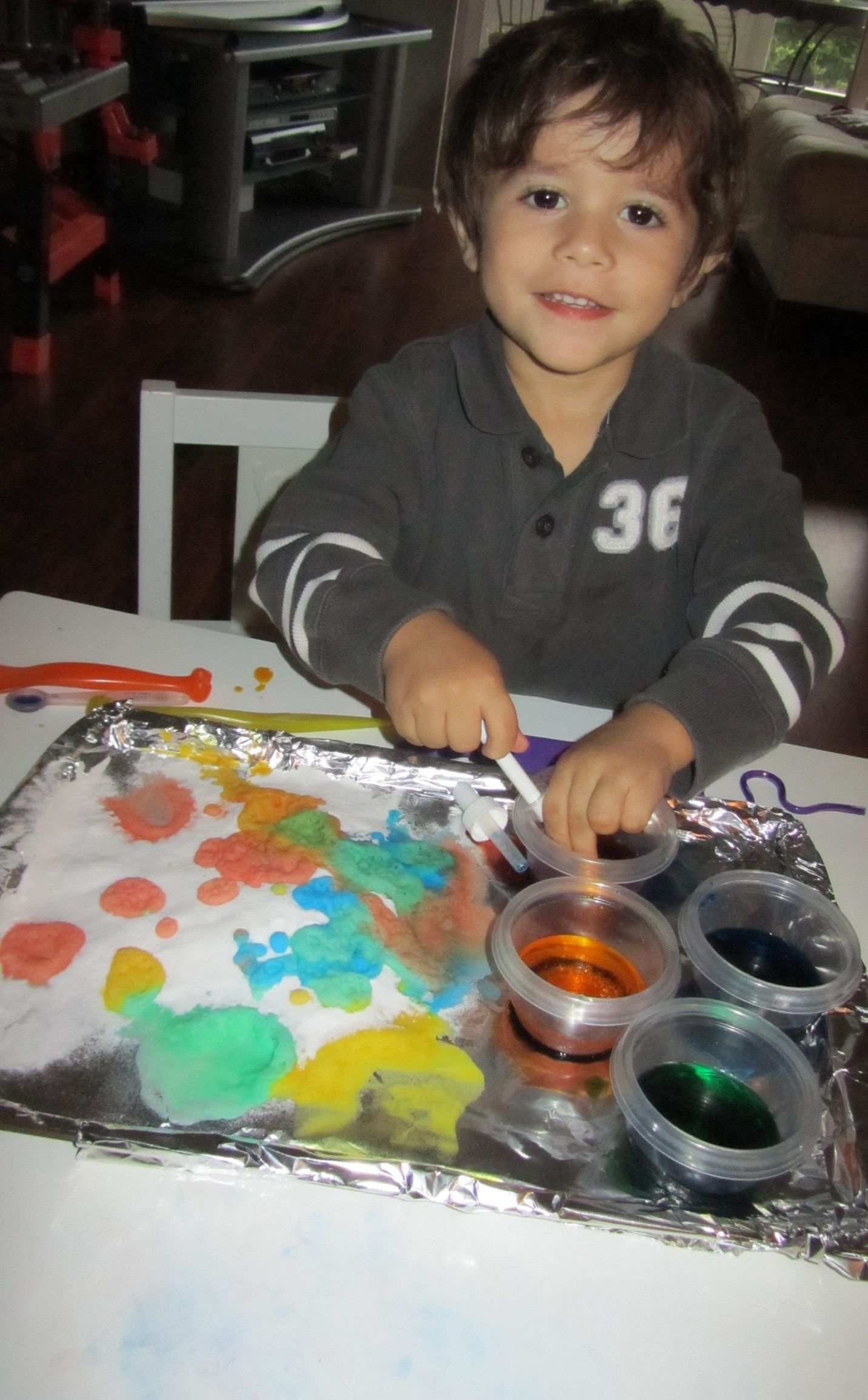 Baking Soda Vinegar And Food Coloring Experiment