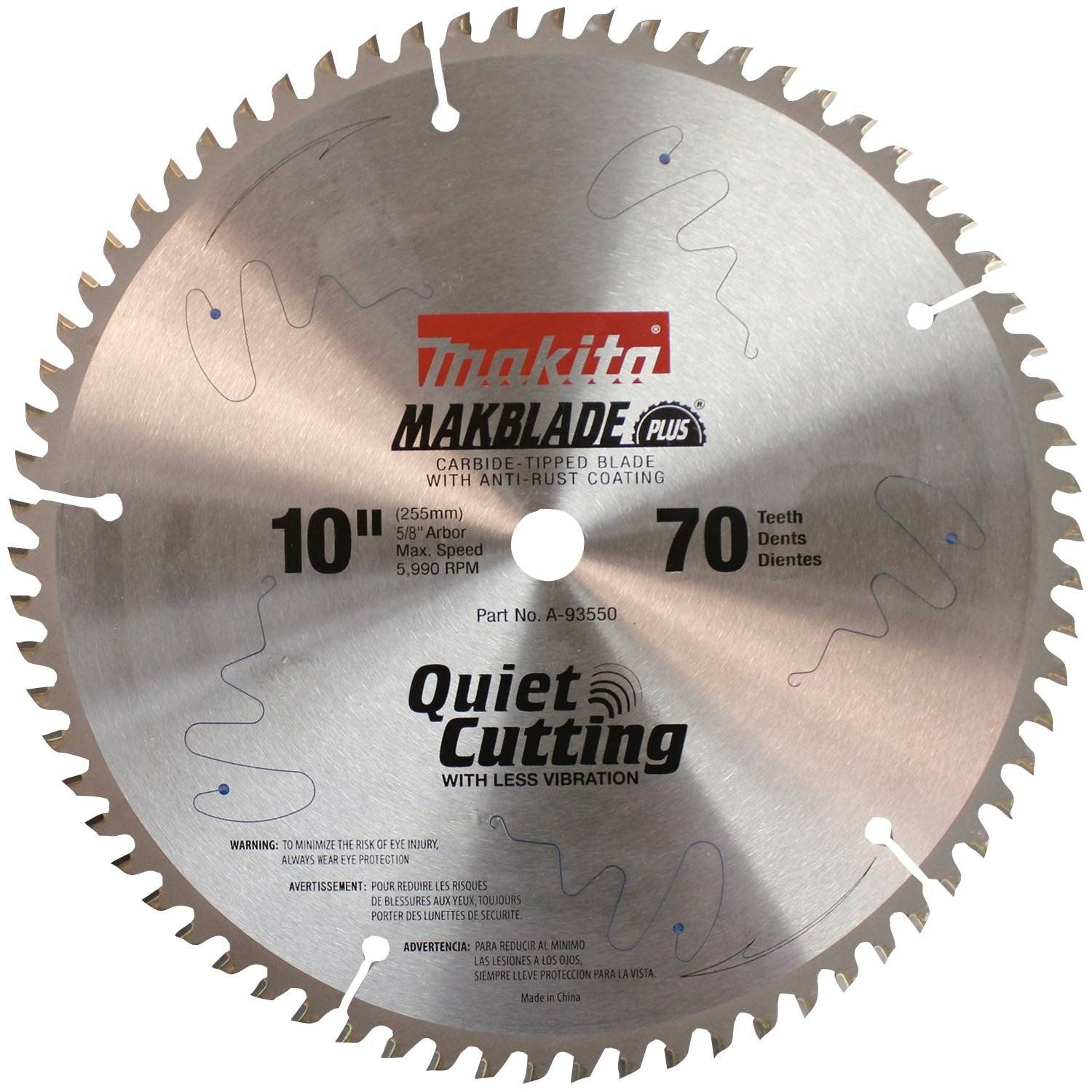 Makita A93550 Makblade 10inch 70 Tooth Atb Quiet Crosscutting Saw Blade With 5 8inch Arbor More Info Could Be Found At The Image Url Makita Blade Miter Saw