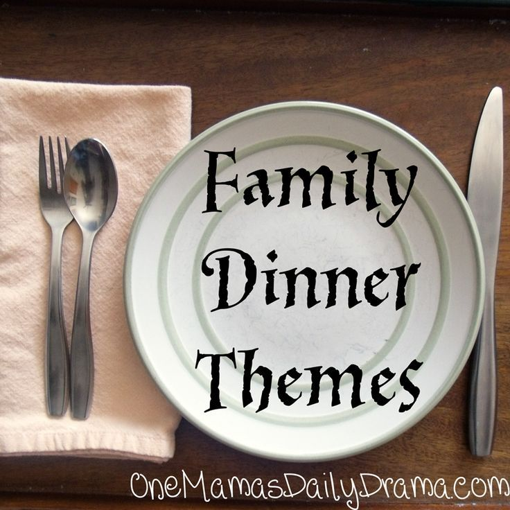 Family dinner themes images