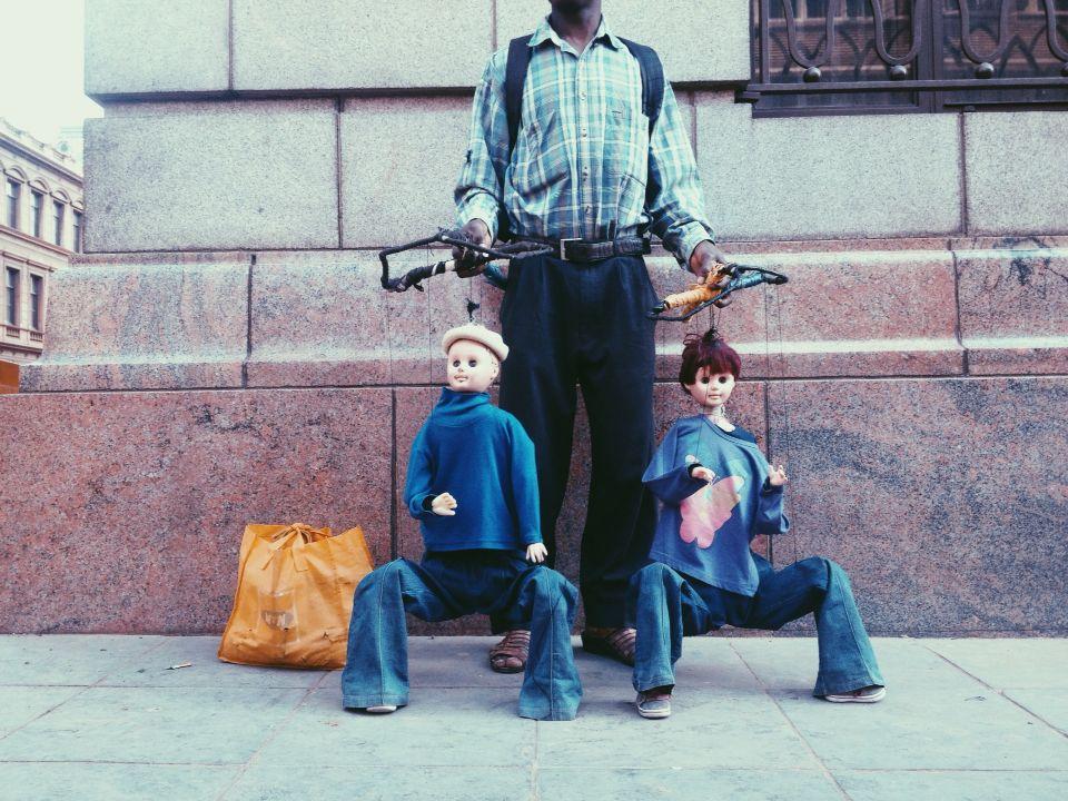 Pretoria puppet man