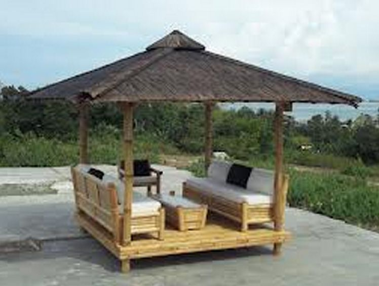 Open type nipa hut cottage good for high station resort for Small hut plans