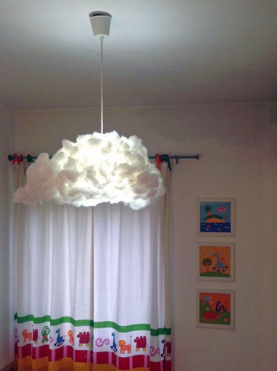 lampe nuage diy fausse neige lampe nuage et ampoules led. Black Bedroom Furniture Sets. Home Design Ideas