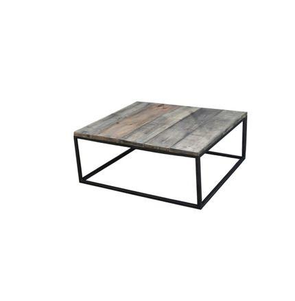Table Basse Acier Et Bois Effet Vieilli Style Industriel Loft Meubles Et Rangements Par Bois Et Metal Factory