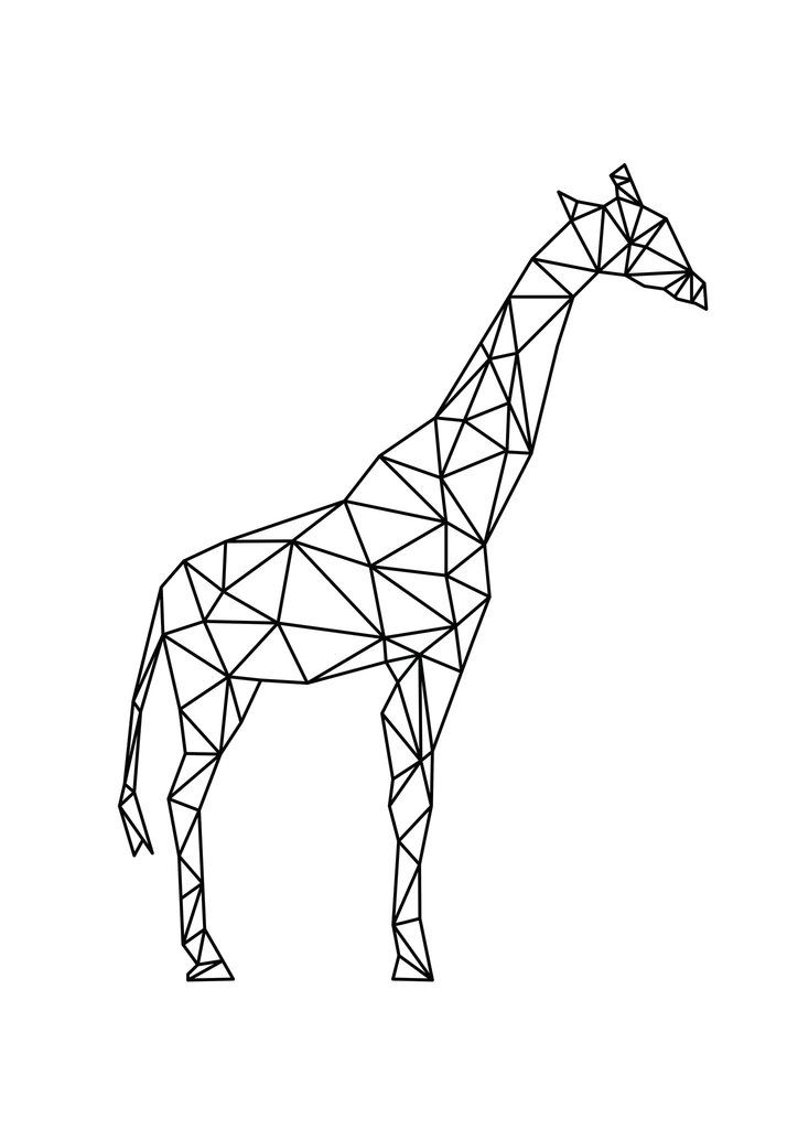 Geo Giraffe Giraffe Tattoos Giraffe Art Geometric Animals
