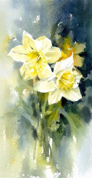 Jeremy Ford Watercolor Jd Oiseau En Aquarelle Peinture Fleurs