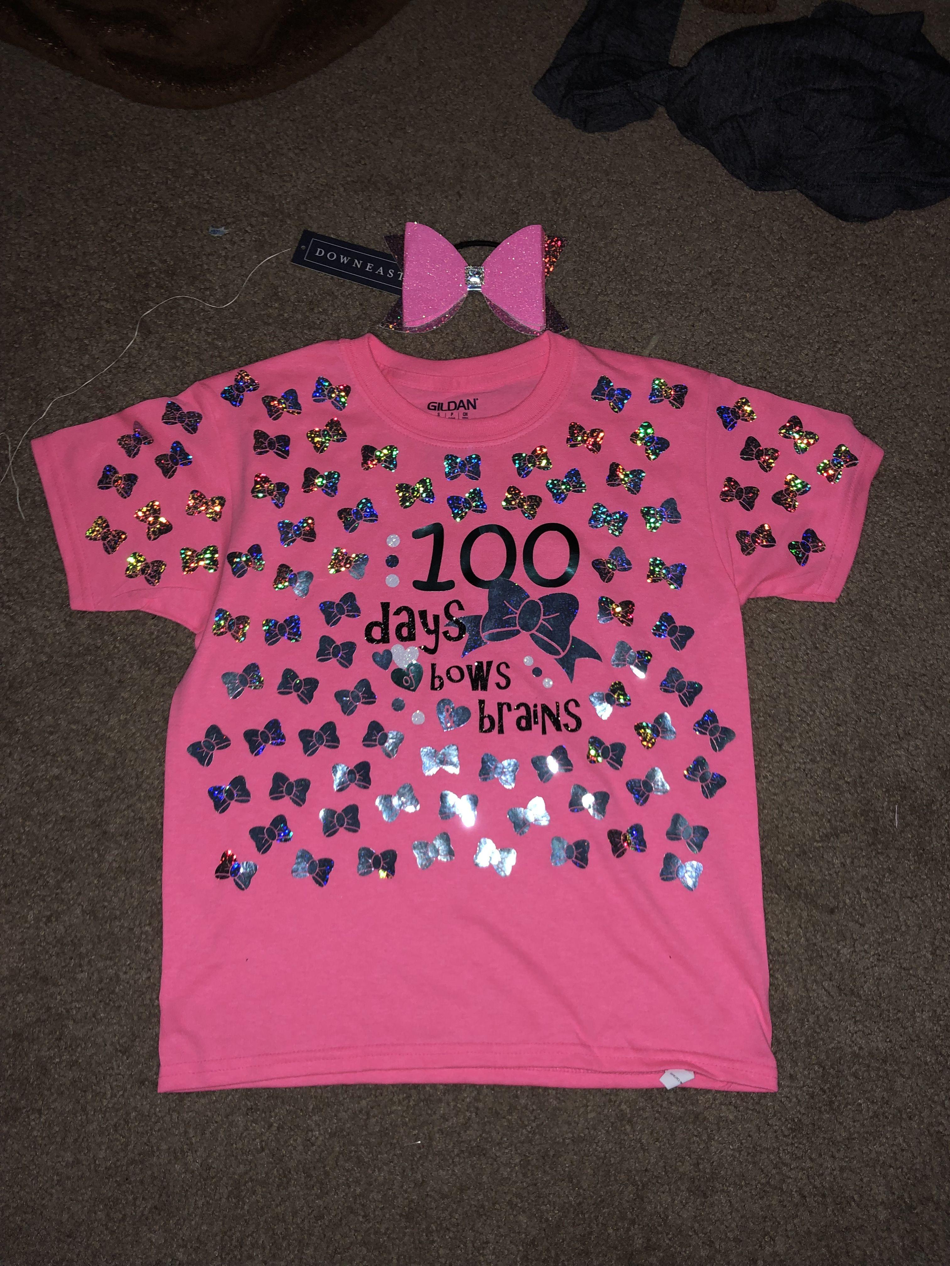 100 Days Of School Shirt 100 Days Of Bows And Brain Cheerleader