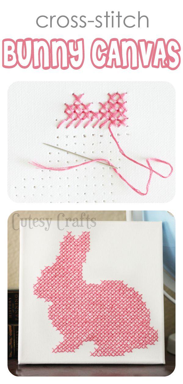 Cross-Stitch Bunny Canvas   spring   Pinterest   Bordado, Pascua and ...